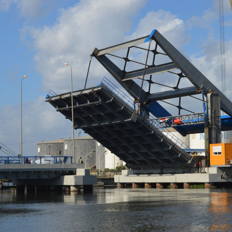Azmy Bridge, Port Said, Egypt