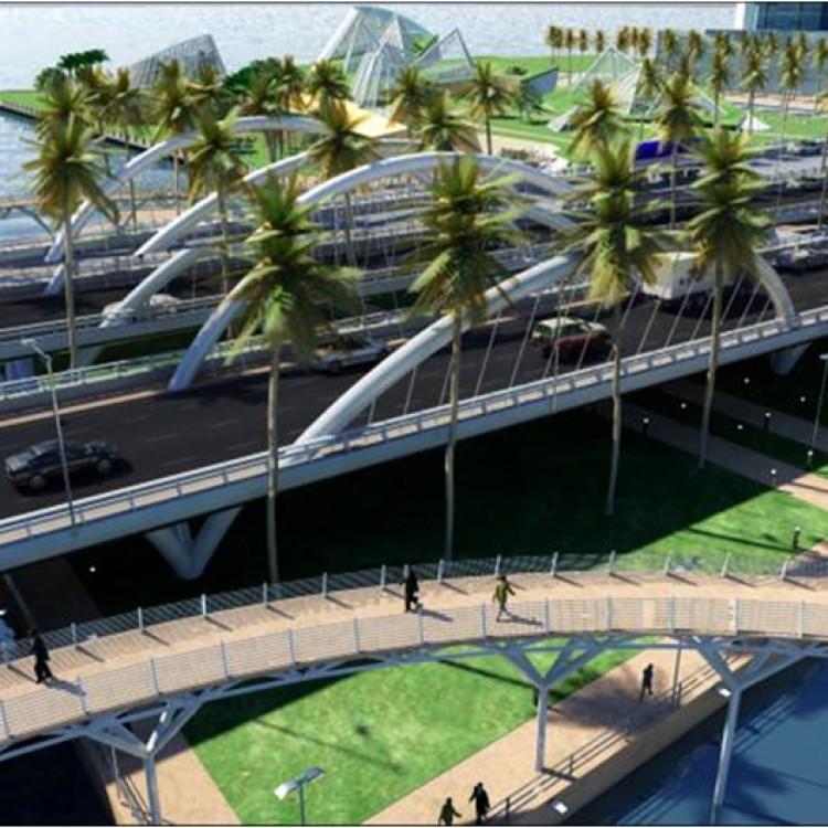 Shams Abu Dhabi Central Park Pedestrian Bridges, UAE